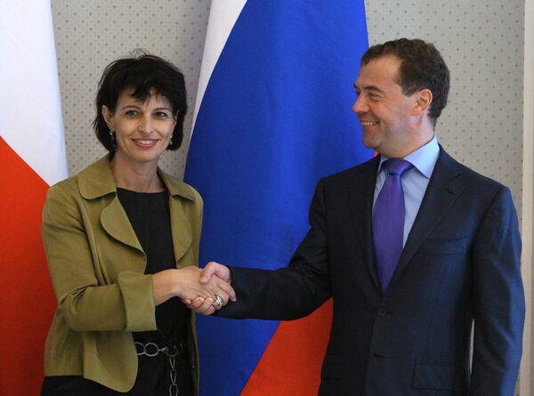 Встреча Дмитрия Медведева с Дорис Лойтхард