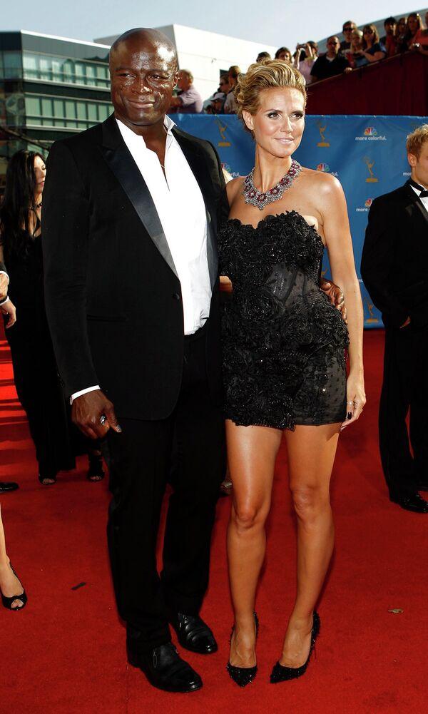 Сил с супругой Хайди Клум на телевизионной премии Эмми
