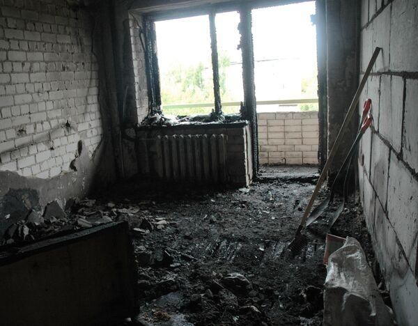 Пожар в доме престарелых в Тверской области