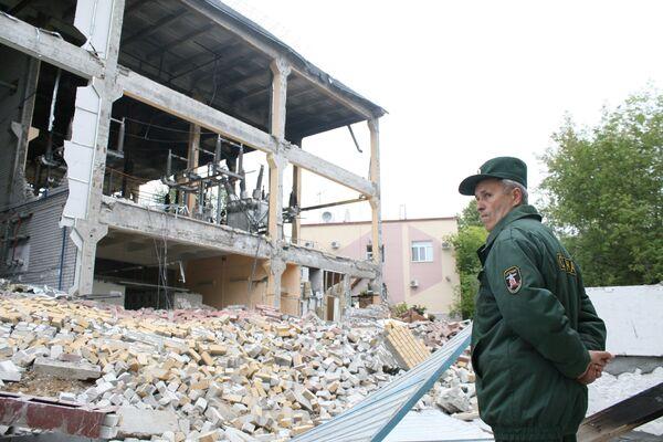 Взрыв на электроподстанции Ленинская в Казани