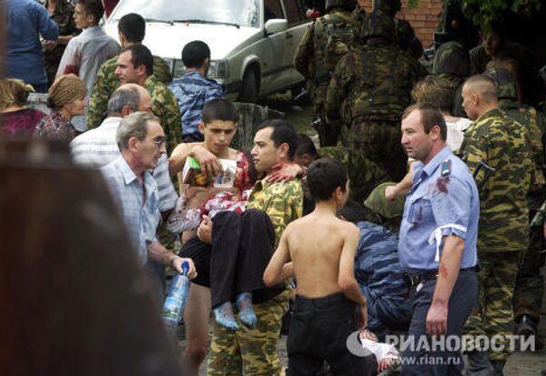 Спасенные заложники, пострадавшие во время теракта в Беслане