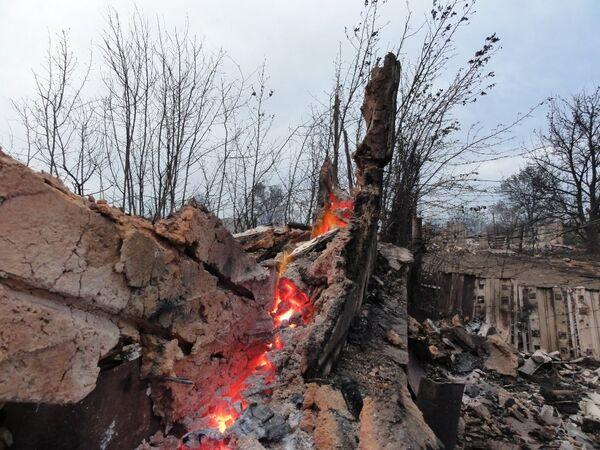 Последствия пожаров в Волгоградской области