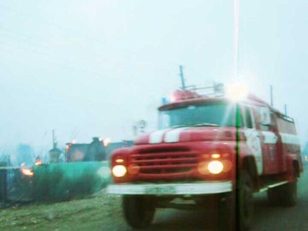 Пожар на станции Лапшинская Волгоградской области