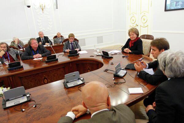 Встреча Валентины Матвиенко с участниками клуба Валдай