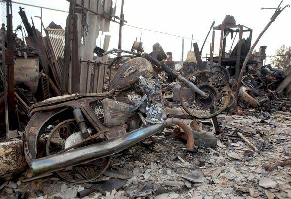 Сгоревшее село в Волгоградской области