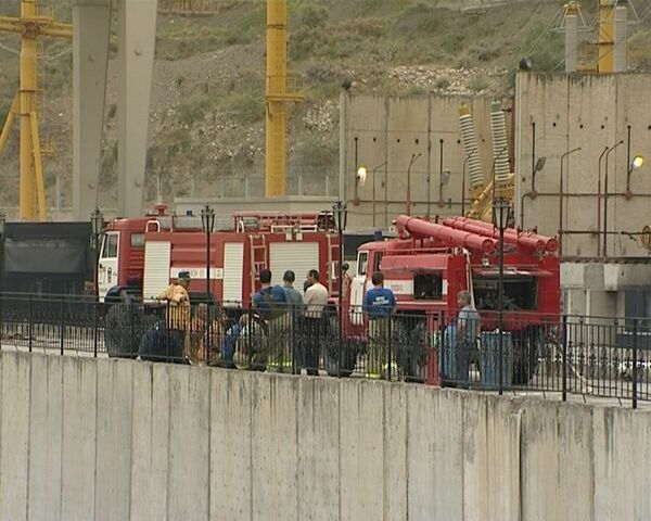 Пожар на Ирганайской ГЭС в Дагестане
