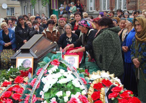 Прощание с погибшими в результате теракта во Владикавказе