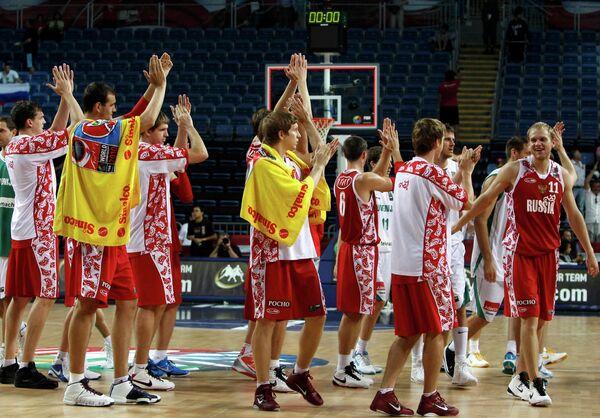 Баскетболисты сборной России. Архив