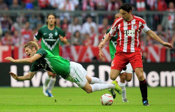 Игровой момент матча Бавария - Вердер
