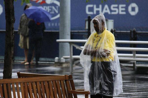 Матчи US Open приостановлены из-за дождя