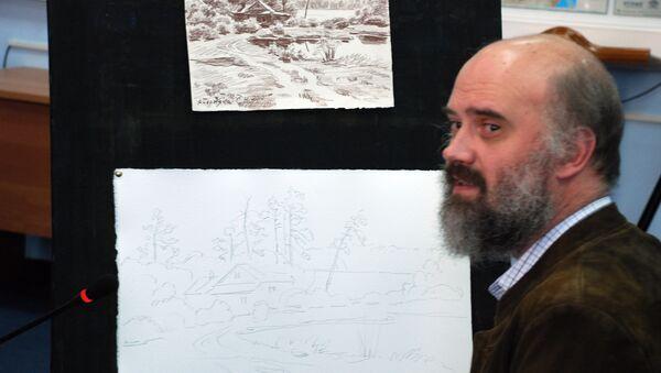 Художник Сергей Андрияка провел в режиме видеоконференции урок живописи для осужденных