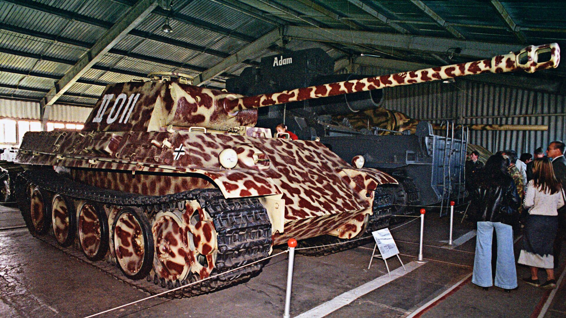 Немецкий танк Т-VG Пантера в музее вооружения Кубинке - РИА Новости, 1920, 03.08.2021