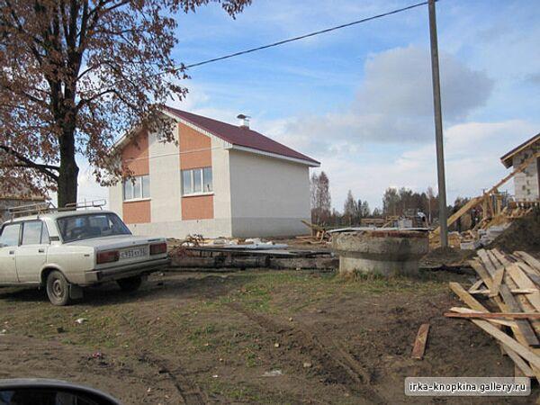 Строительство домов погорельцев в Нижегородской области