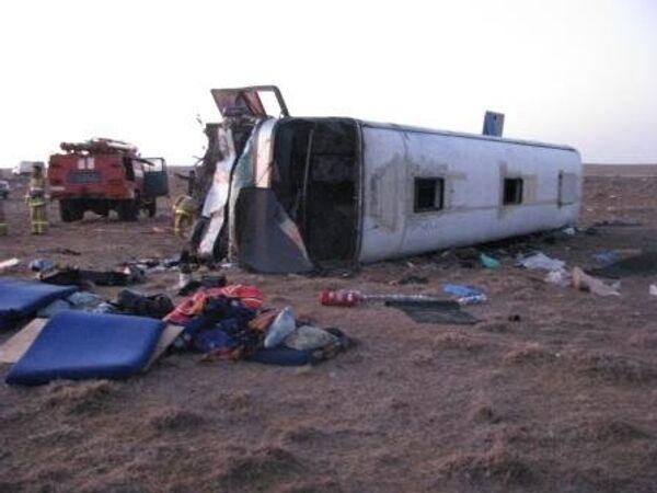 Авария на трассе в Калмыкии