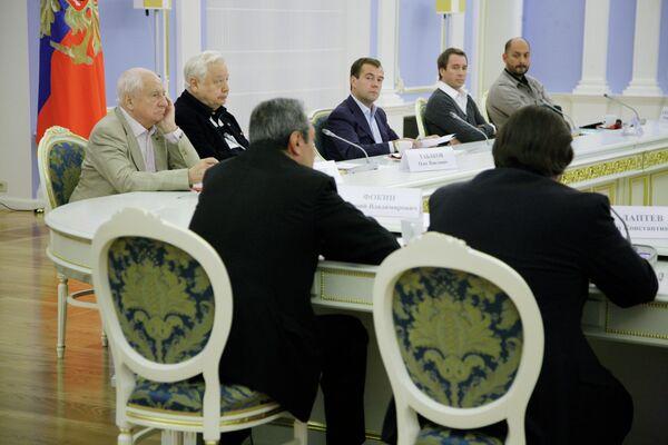 Президент РФ Д.Медведев провел встречу с российскими театральными деятелями