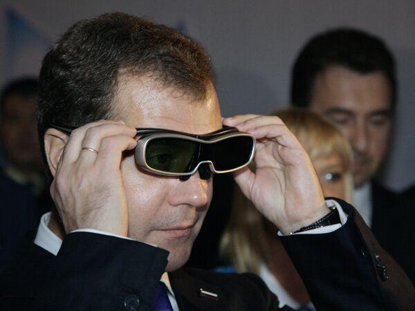 Дмитрий Медведев и Си Цзиньпин посетили павильон России на Всемирной универсальной выставке ЭКСПО-2010 в Шанхае