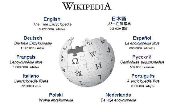 Сайт международной энциклопедии Wikipedia