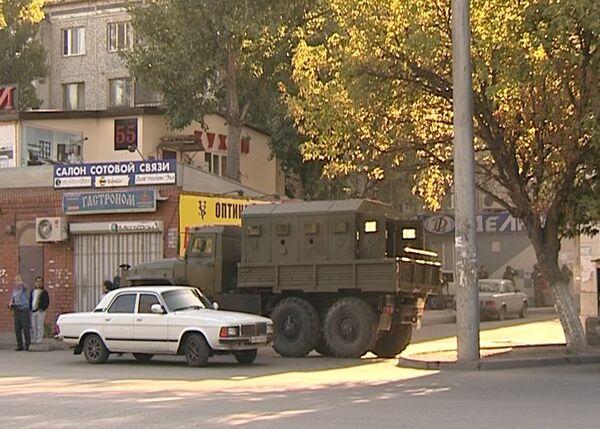 Спецоперация ФСБ России на проспекте Гамидова в Махачкале