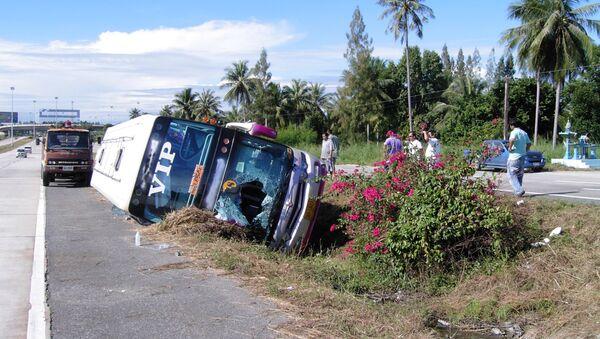 Автобус с российскими туристами, попавший в ДТП в Таиланде
