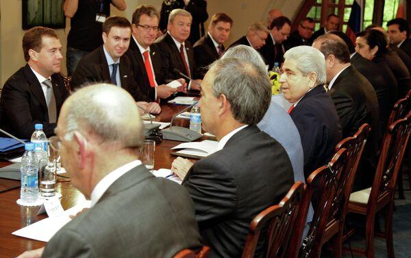 Президент РФ Д.Медведев на переговорах в Никосии