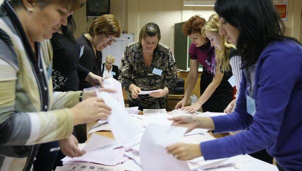 Подсчет голосов после выборов законодательного собрания в Новосибирской области