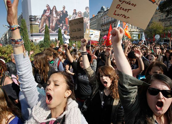 Национальная забастовка в знак протеста против пенсионной реформы во Франции