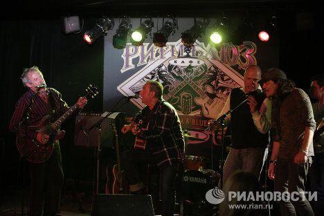 Выступление российских рок-музыкантов