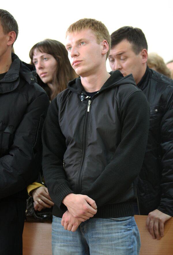 Егор Бычков в зале Дзержинского районного суда Нижнего Тагила. Архив