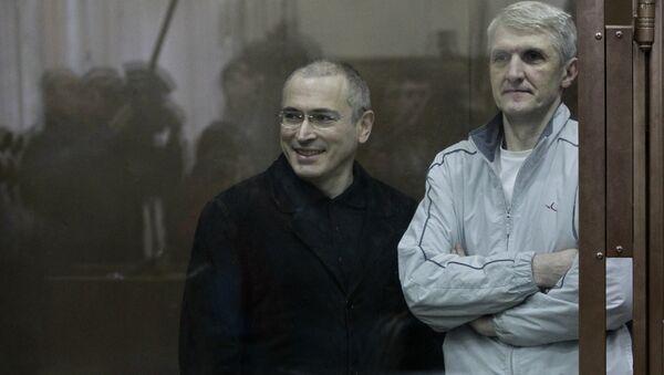 Экс-глава ЮКОСа Михаил Ходорковский и экс-глава МФО Менатеп Платон Лебедев. Архив