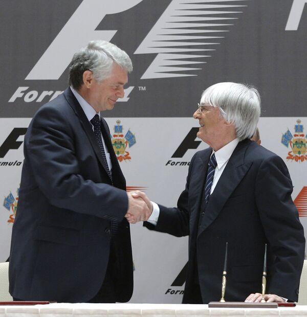 Подписание контракта на организацию этапа Ф-1 в России