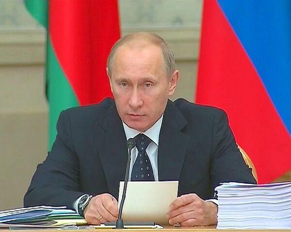 Путин сравнил проблемы России и Белоруссии с семейными спорами