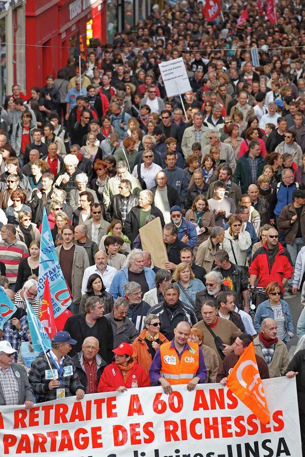Протесты против пенсионной реформы во Франции