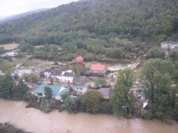 Пострадавшие от дождевых паводков районов Краснодарского края.