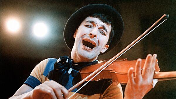 Артист цирка Леонид Енгибаров