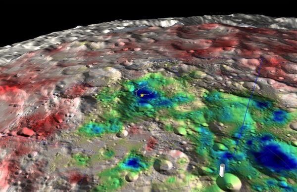 Нейтронная карта южного полюса Луны по данным российского прибора ЛЕНД