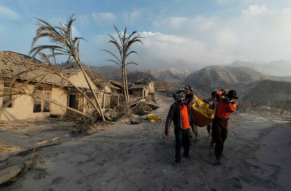 Последствия извержения вулкана на острове Ява