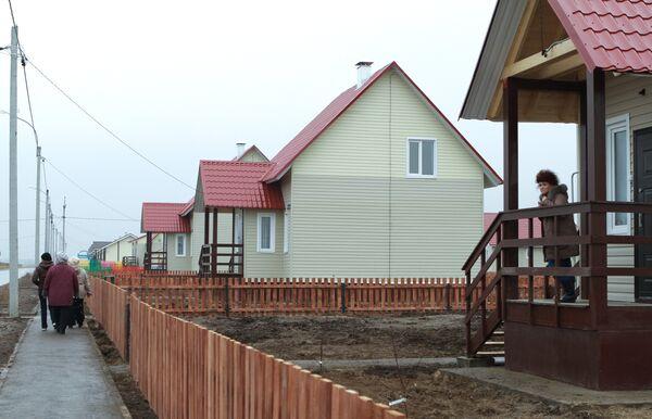 Открытие поселка Боталово-4 для пострадавших от лесных пожаров в Нижегородской области
