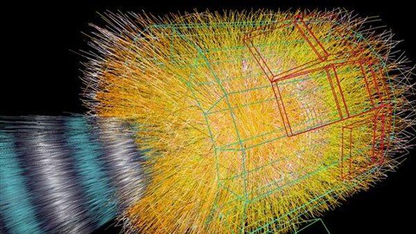 Моделирование столкновения ионов свинца в детекторе ALICE на Большом адронном коллайдере