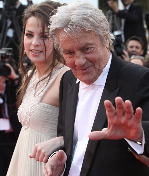 Ален Делон со своей дочерью Анушкой