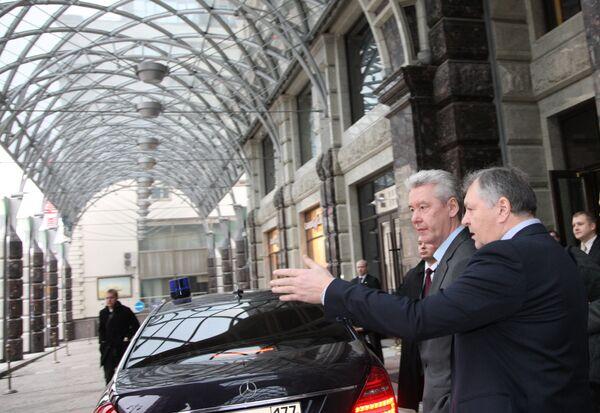 Мэр Москвы С.Собянин посетил один из центральных подземных паркингов столицы