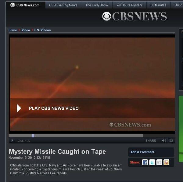 Скриншот страницы сайта CBS News