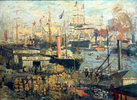 Картина Большая набережная в Гавре художника Клода Моне
