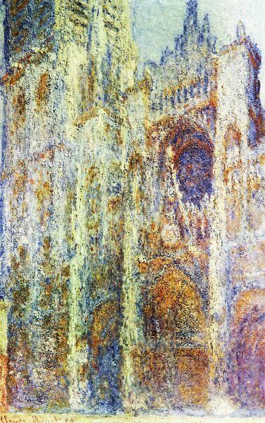 Картина Клода Моне Руанский собор вечером