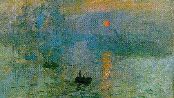 Пейзаж Клода Моне «Впечатление. Восходящее солнце»  (Impression, soleil levant)