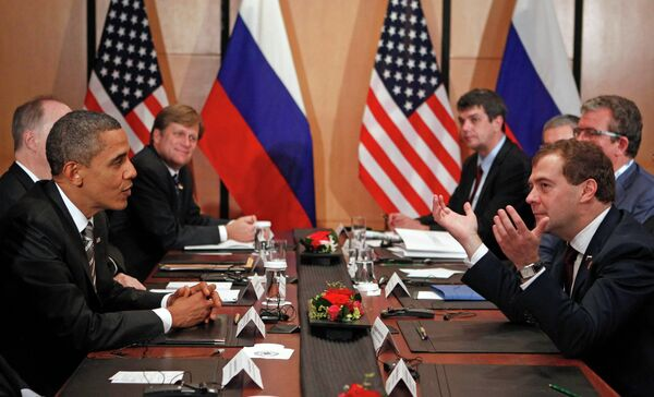 Встреча Дмитрия Медведева и Барака Обамы в Иокогаме