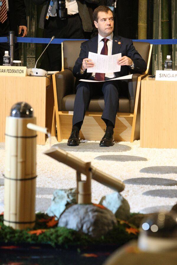 Дмитрий Медведев принимает участие в рабочем заседании лидеров АТЭС