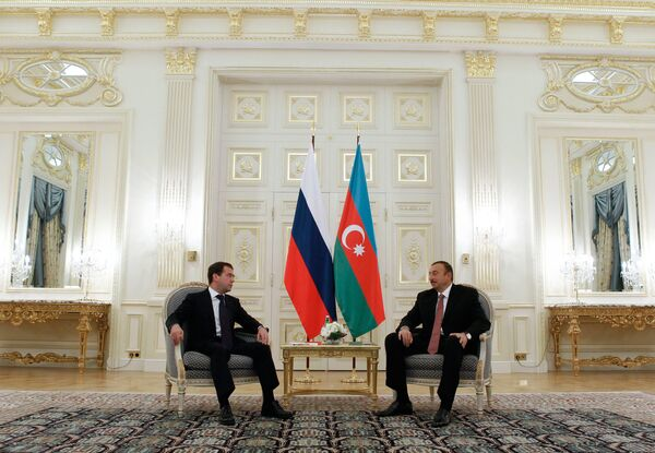 Встреча Дмитрия Медведева с президентом Азербайджана Ильхамом Алиевым