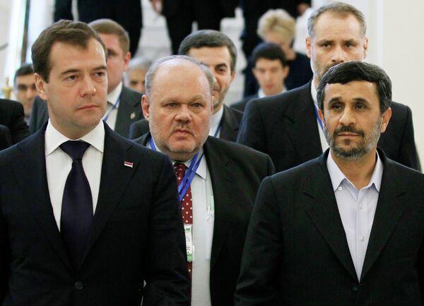 Встреча Дмитрия Медведева с президентом Ирана Махмудом Ахмадинежадом