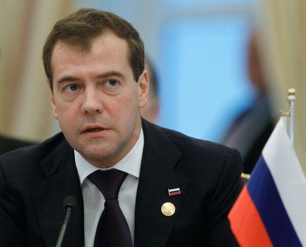 Дмитрий Медведев выступает на заседании Третьего Каспийского саммита