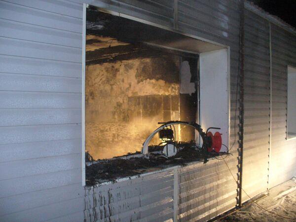 Пожар в интернате в Омской области
